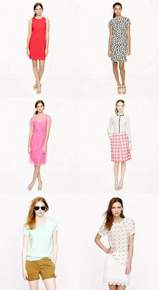 jcrew spring looks and loves