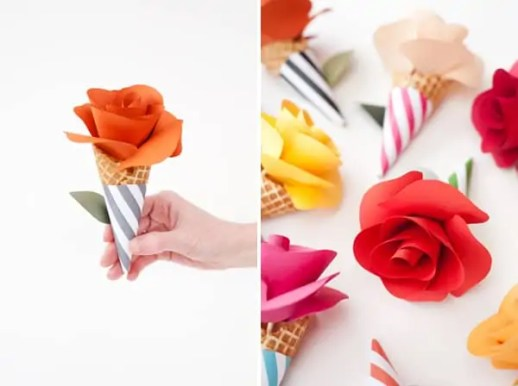 DIY bouquet paper cones by Oh Happy Day