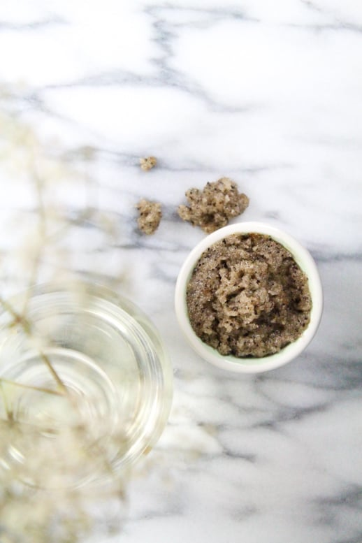 DIY cinnamon sugar coffee scrub