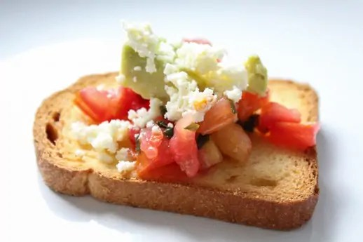 recipe for the best five-minute bruschetta