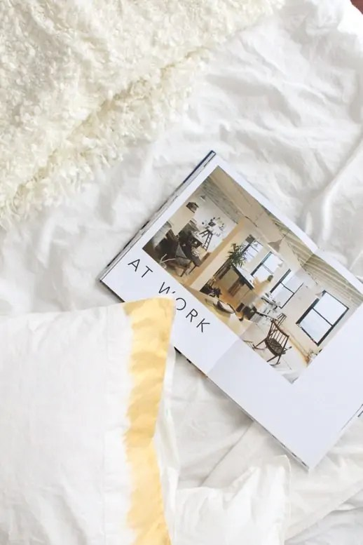 DIY liquid gold ombre pillowcase
