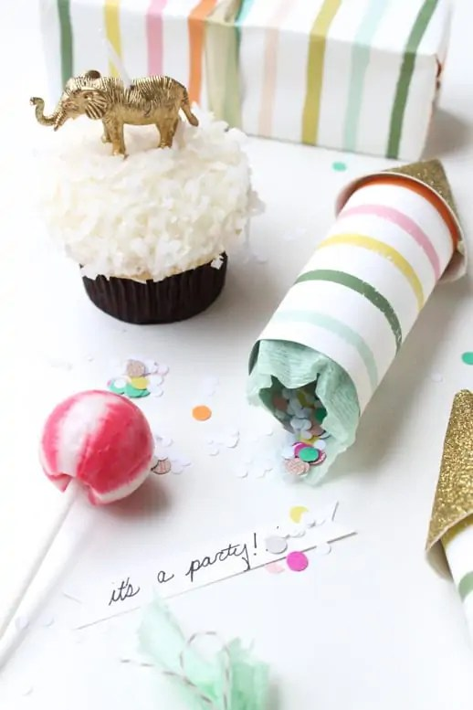 DIY party poppers by Sugar & Cloth