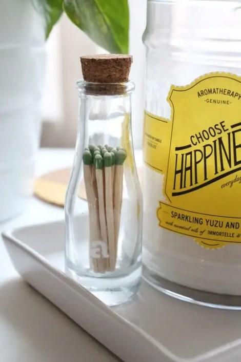 DIY striking matchstick holder by Sugar & Cloth