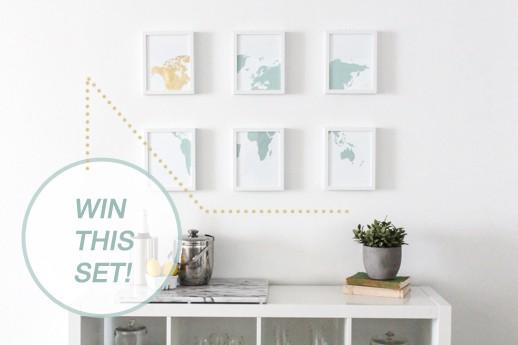 gold leaf DIY artwork and giveaway