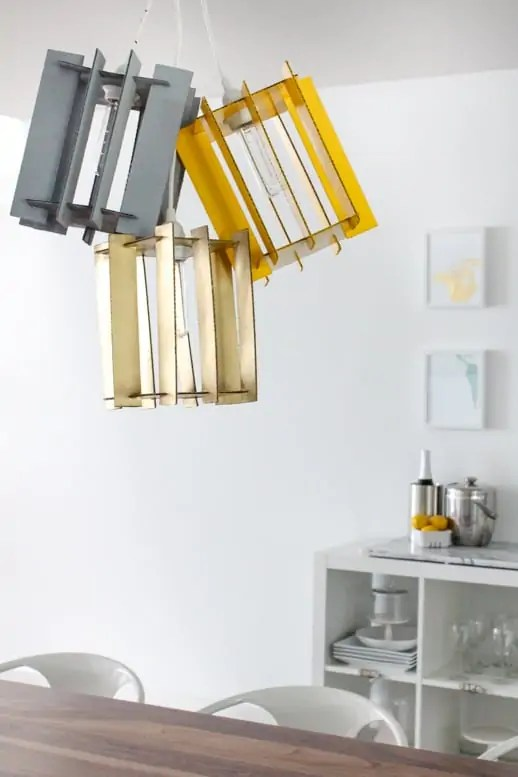 DIY recycled cardboard pendant light by Sugar & Cloth