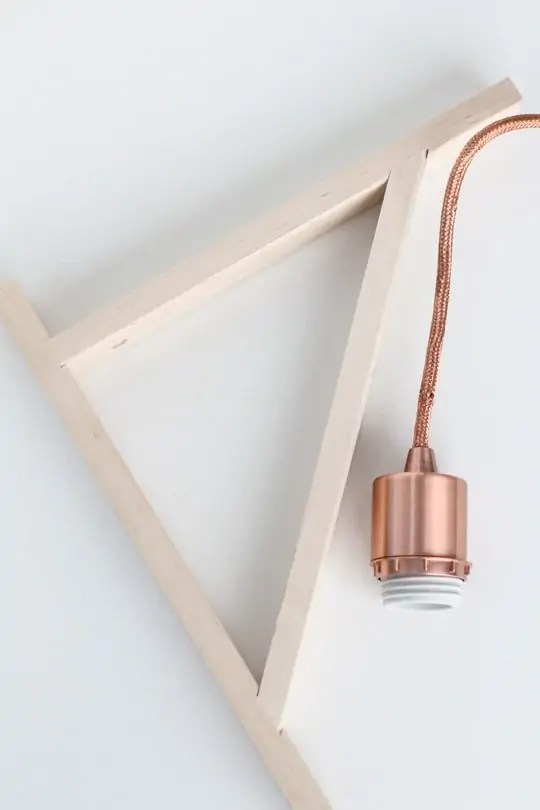 DIY: Metallic Pendant Sconce - Sugar & Cloth - DIY