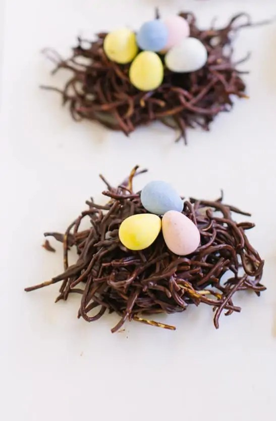 eggs in a chocolate nest recipe