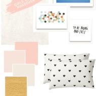 girls room midcentury makeover ideas | sugarandcloth.com