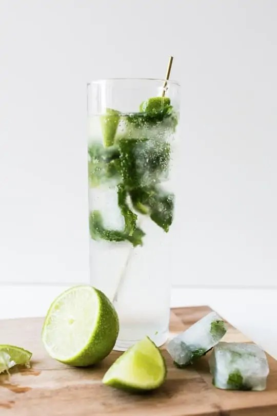 mojito ice cubes | sugarandcloth.com