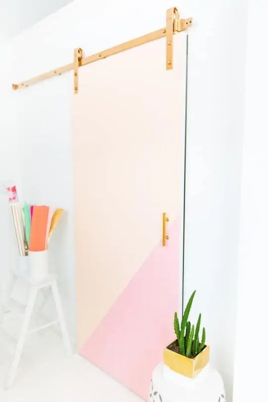 DIY colorblocked barn door | sugarandcloth.com