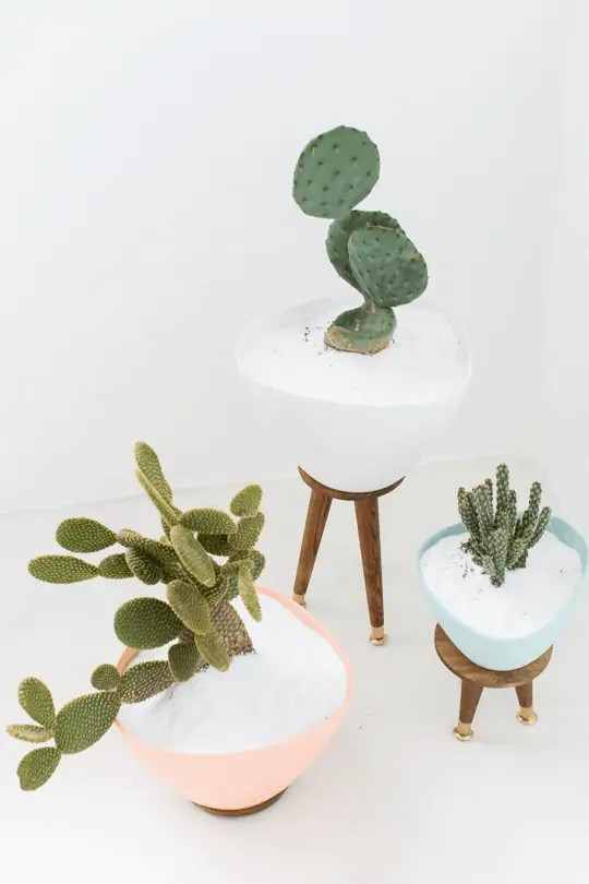 DIY mid century planters | sugar &  cloth