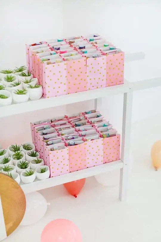 favor bags and planters