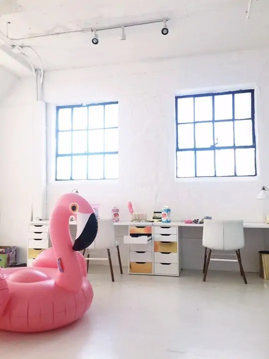 behind the scenes in the sugar & cloth studio