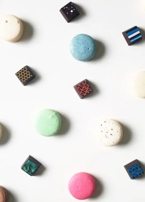 macarons and chocolates