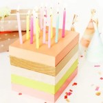 DIY Wooden Birthday Cake Decor