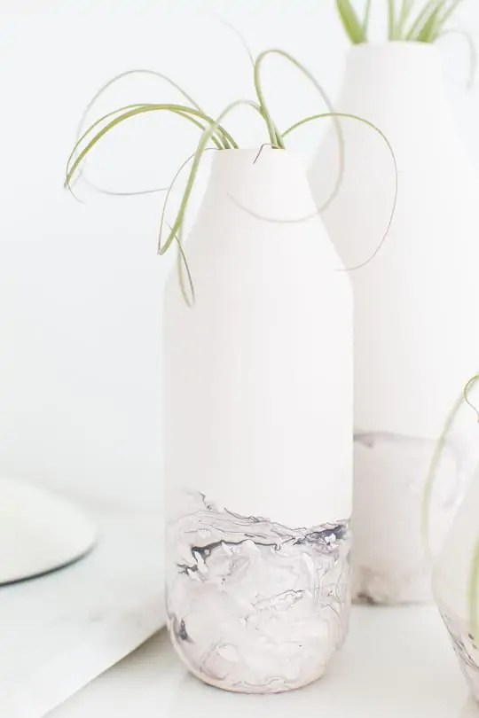 DIY marble dipped vessels -- sugar & cloth