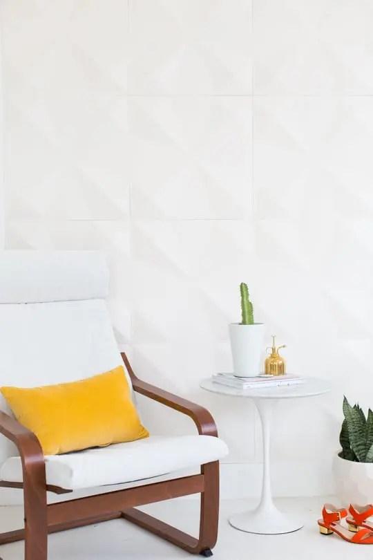 DIY retro wall panel installation (for renters!) | sugar & cloth