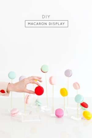 DIY macaron display - Sugar & Cloth