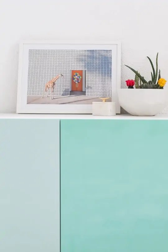 DIY color block storage - sugar and cloth