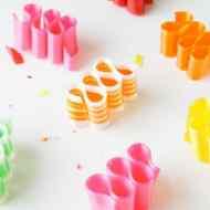 DIY Candy Ribbon Place Cards - Sugar & Cloth
