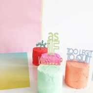 slang cakes DIY - sugar and cloth - behind the scenes