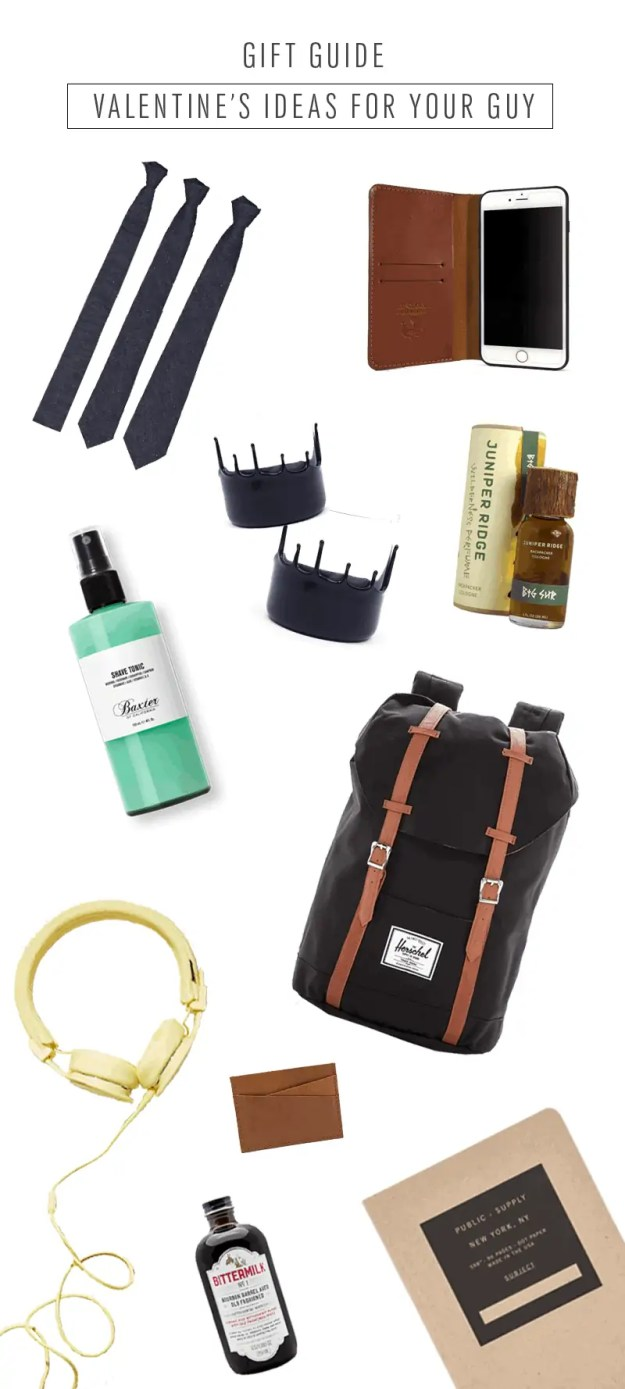 gift guide - valentine's gift ideas for your guy - sugar and cloth