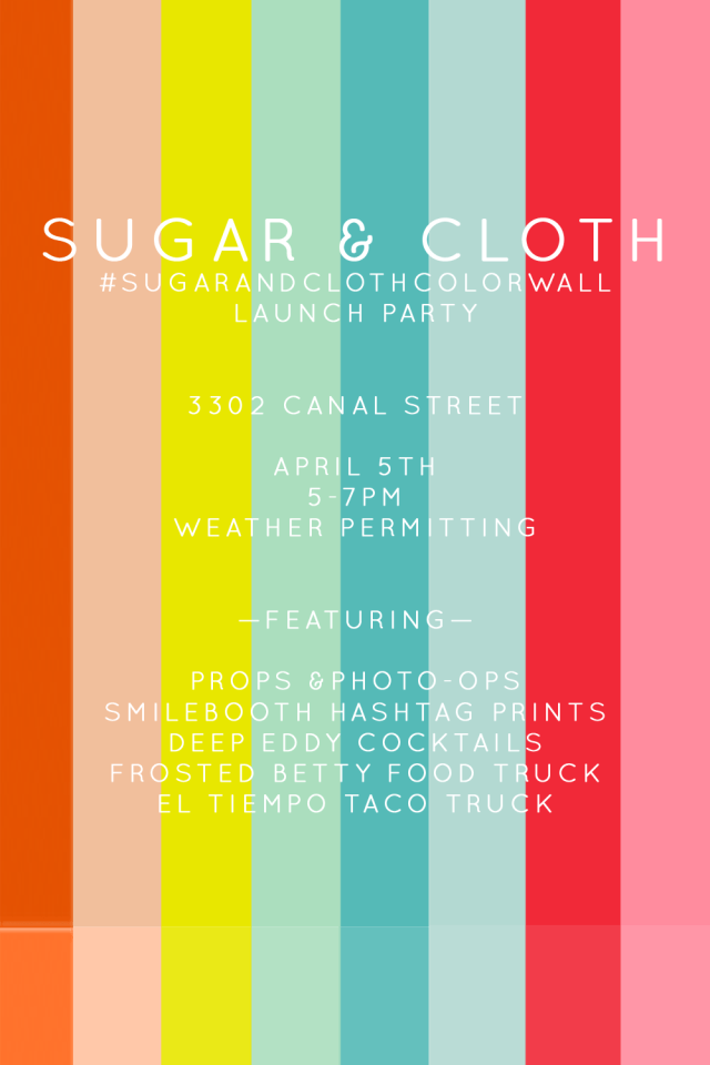 The Sugar Amp Cloth Color Wall In Houston Video Sugar Amp Cloth