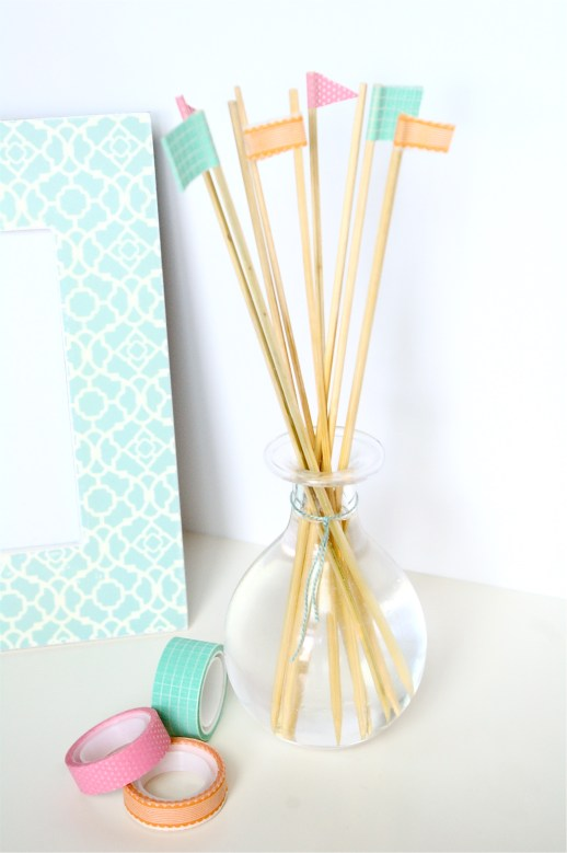 DIY reed diffuser and washi tape