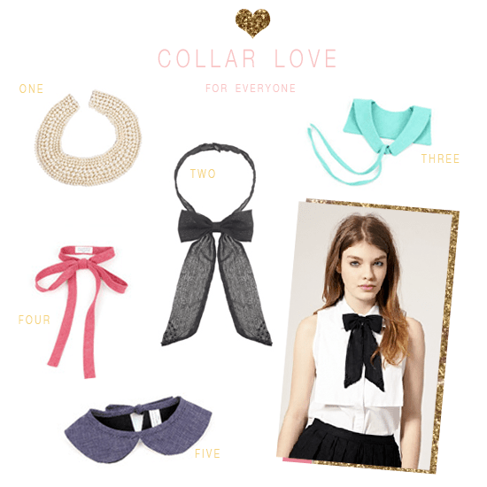 peter pan collar, bow collar, scoop collar, pearl collar
