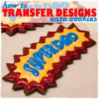 How To Transfer Designs Onto Cookies (Tutorial)