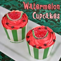 Watermelon Cupcakes + Summer Picnic Party Giveaway