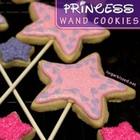 Princess Wand Cookies for a Princess Party