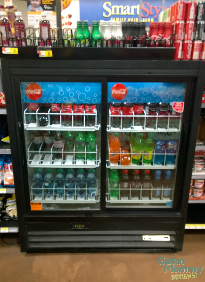 Coca-Cola cooler at Walmart