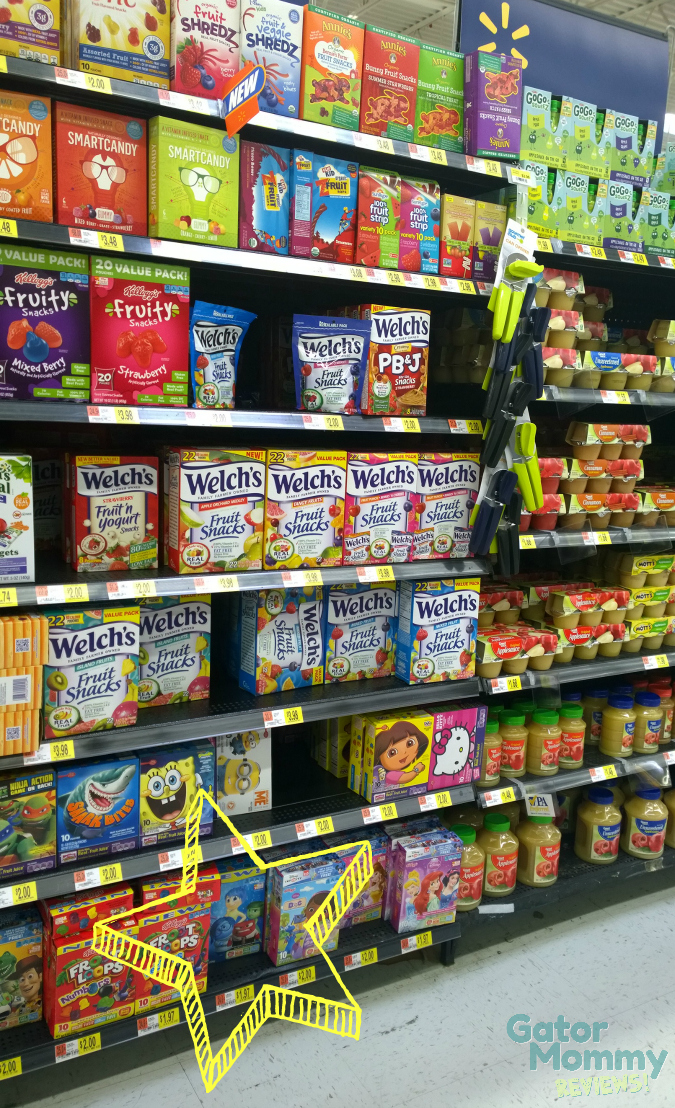 Fruit Snack Aisle at Walmart