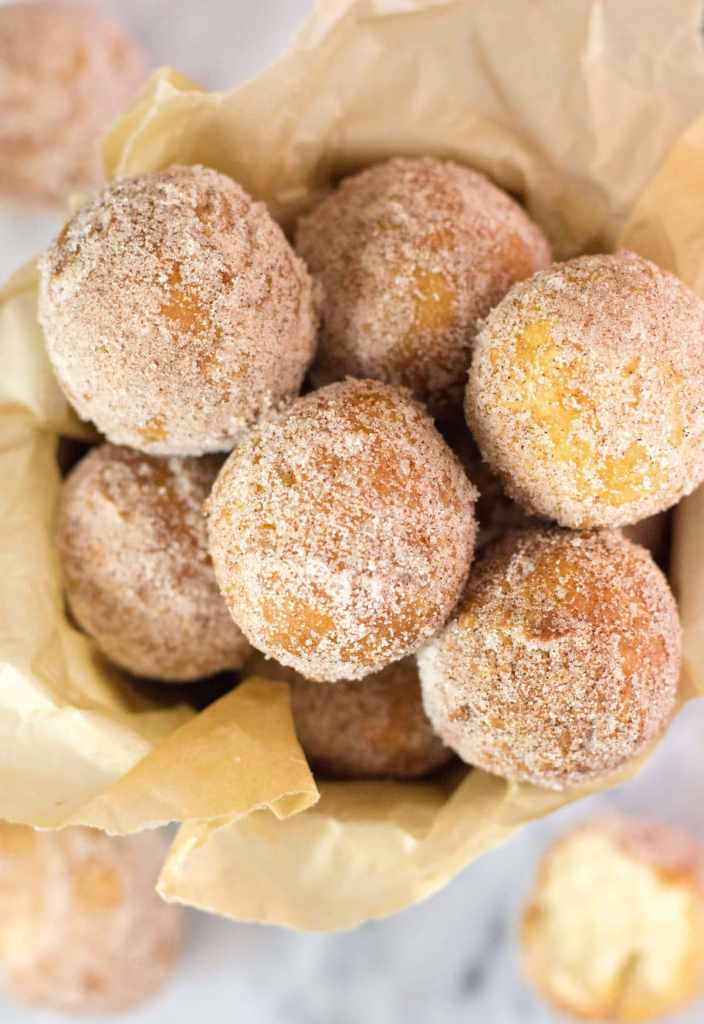 Fried Donut Holes (No Yeast)