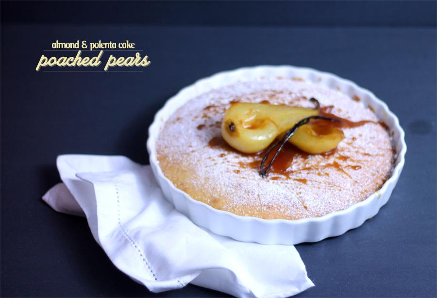 Caramelised pear almond cake recipe