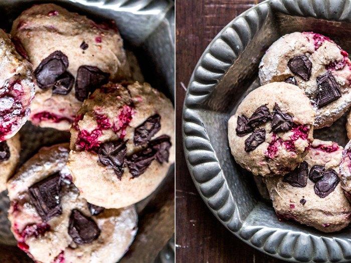 Spelt Raspberry & chocolate breakfast cakes