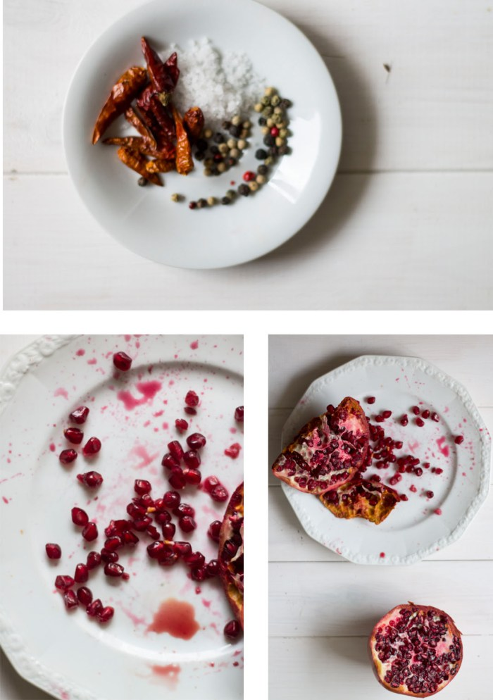 pomegranate and chicken wraps