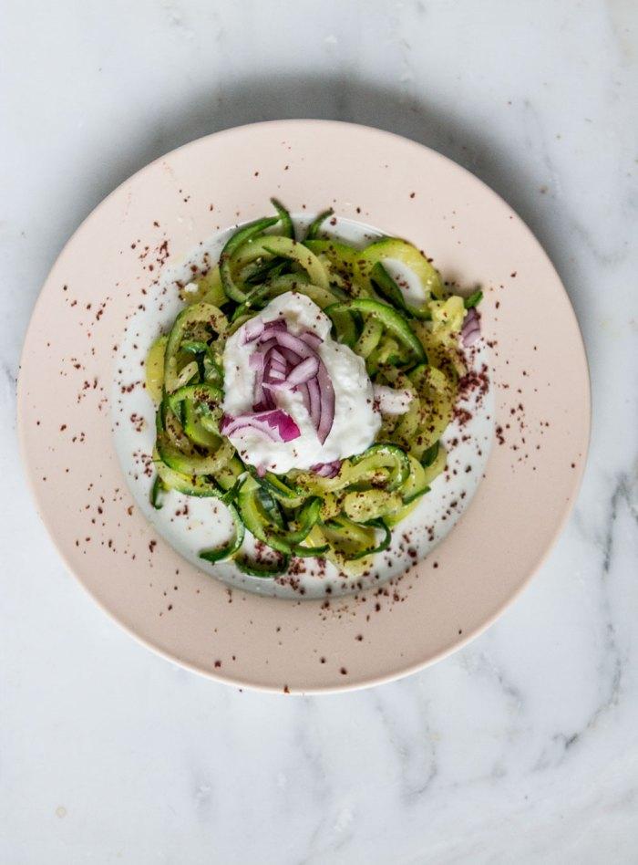 spiralized courgette recipe