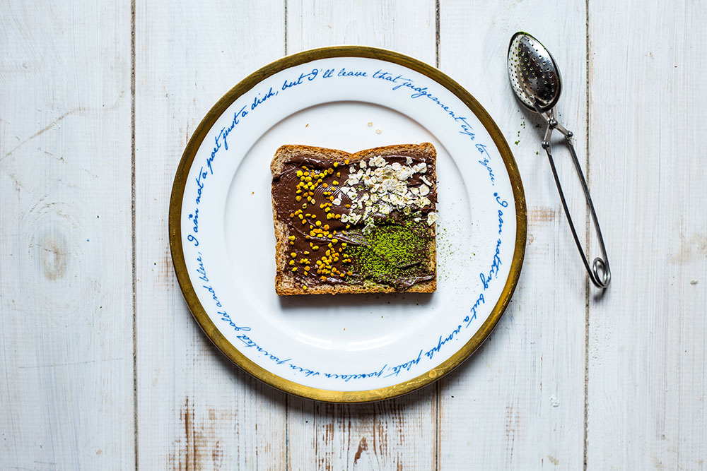 Nutella, Bee Pollen, Oats & Matcha