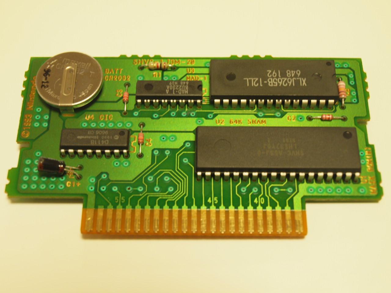 スーファミソフトの電池交換方法