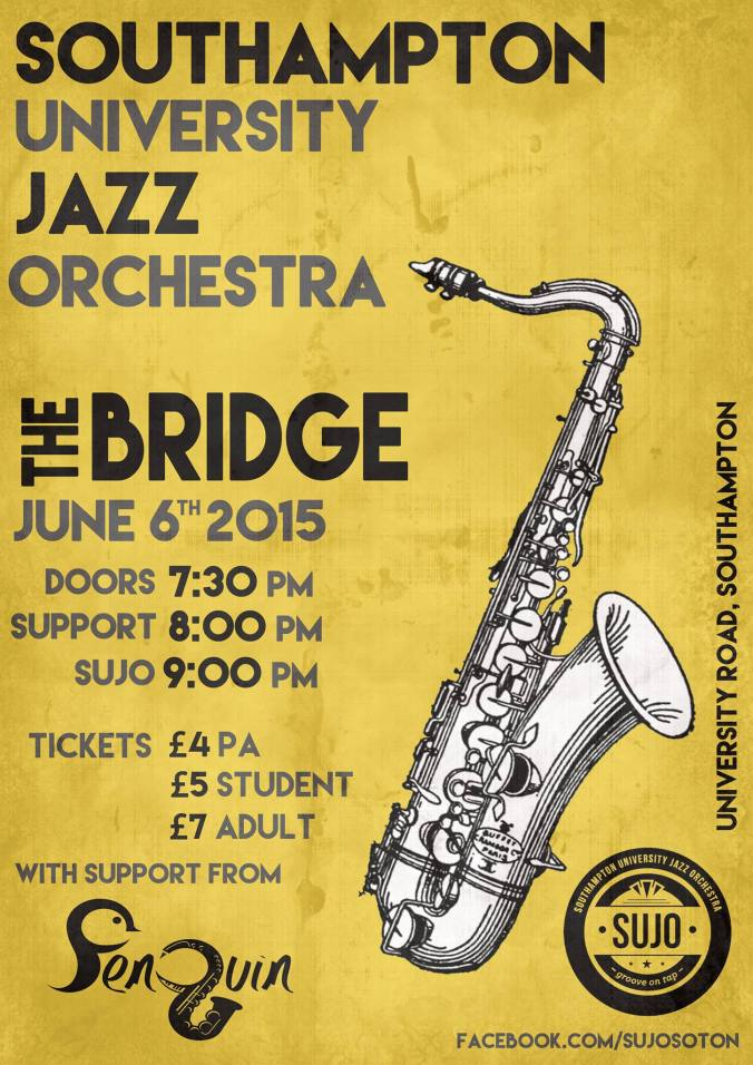 Poster - SUJO playing the Bridge on June 6th