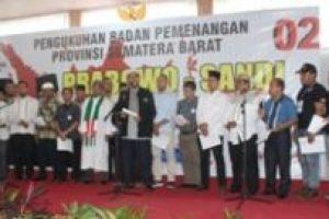 Sumbar, Daerah Pertama Pelantikan BPN Prabowo-Sandi