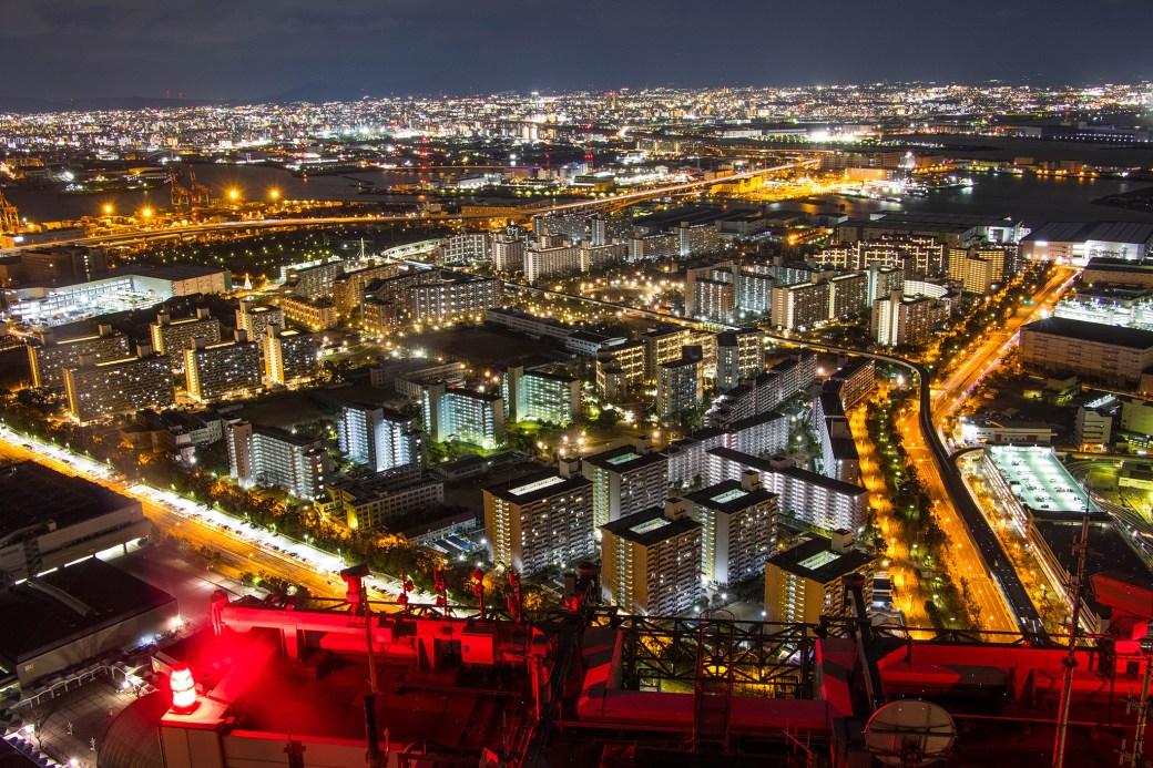 コスモタワーからの夜景