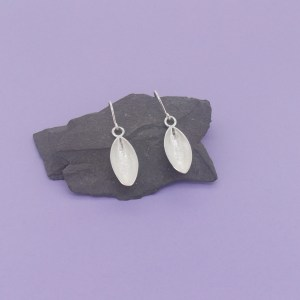 Silver Pod Earrings