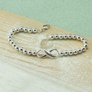 Silver Infinity Ball Bracelet