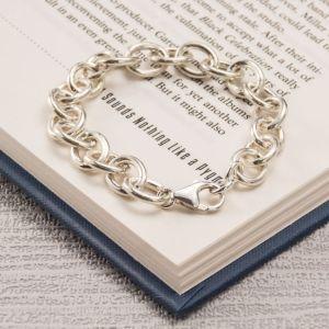 Men's Silver Solid Link Bracelet