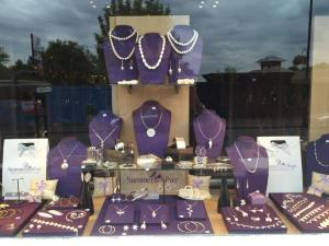 summer and silver window display