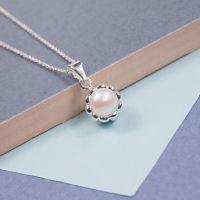 Silver Pearl Cupcake Pendant