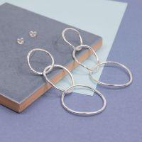 Silver Orb Drop Earrings